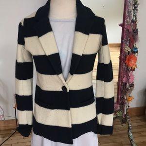 Loft boiled wool striped blazer